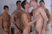 The Calendar Shoot – Jizz Orgy – Alex Adams, Duncan Black, Marcus Ruhl, Tommy Deluca, Vance Crawford