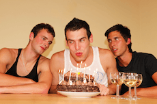 Raw Twink Birthday Threesome
