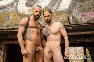 Bearded Piss Pigs Fuck Outdoors