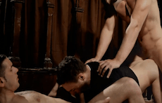 Horny Priests's Thresome With Boys