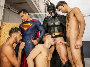 Batman V Superman : A Gay XXX Parody – Part 3 – Topher Dimaggio, Trenton Ducati, Allen King, Massimo Piano and Dario Beck